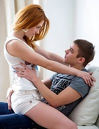 Extremely Hot Redhead Having Fantastic Sex With Her Boyfriend pics