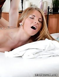 Hot Stunner Screams From Pleasure On The Massage Table pics