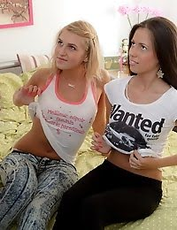 Dirty Games With Two Beautiful Teen Cuties pics