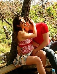 Teen Couple Fuck On A Picnic pics