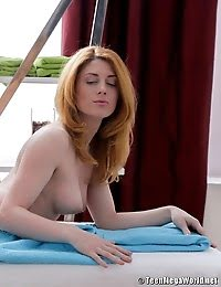 Stunning Redhead Banged By Her Masseur All Styles pics