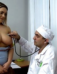 Teen With Great Boobs Gets Her Pussy Fucked By Huge Doctor's Pecker pics