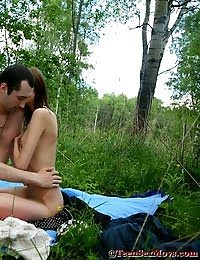 Adorable Teen Girls Gets Good And Fucked Out By A Lake pics
