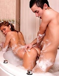 Cute Teen Girl Fucks Boyfriend In Tub pics